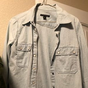 Banana Republic light wash denim shirt